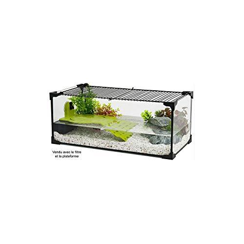 Zolux Acuario tortue-aquaterrarium para tortuga de agua de 50cm