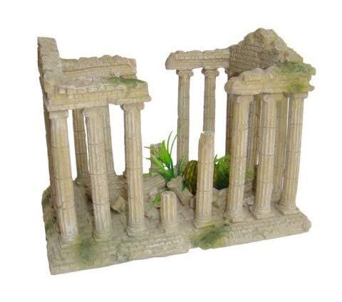 Adorno para acuario de Heritage, diseño de ruinas de templo romano