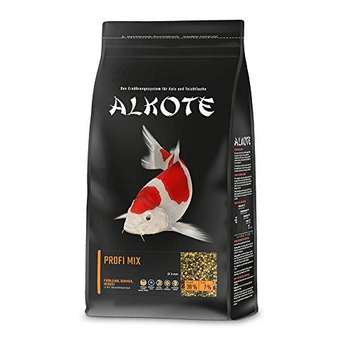 AL-KO-TE, Comida para 3 Estaciones para Kois, Primavera hasta otoño, pellets flotantes, Mezcla...