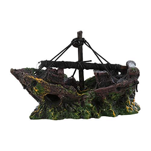 TOOGOO(R) Ornamento Acuario Barco de Pesca del Ornamento del Acuario Decoracion para Fish Tank,...