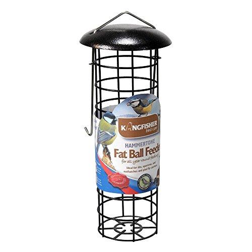 Kingfisher - Comedero para pájaros de Bolas de sebo Premium con Acabado Martillado