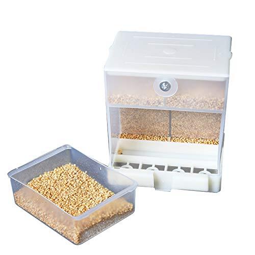 Abree Comedero Pajaros Automático, Comederos para Pajaros Alimentador de Pájaros Contenedor de...