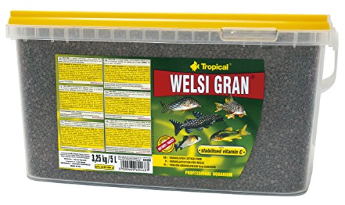 Tropical Welsi Gran Granulado para Peces Ornamentales comestibles, 1 Unidad (5 l)