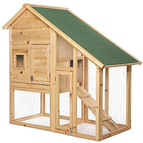 Conejera Refugio para Mascotas pequeñas Chalet Conejos 140x65x119 cm