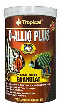 D-ALLIO PLUS GRAN 1000ml/600g Alimento granulado multiingrediente con ajo (30%) para discos y otros...