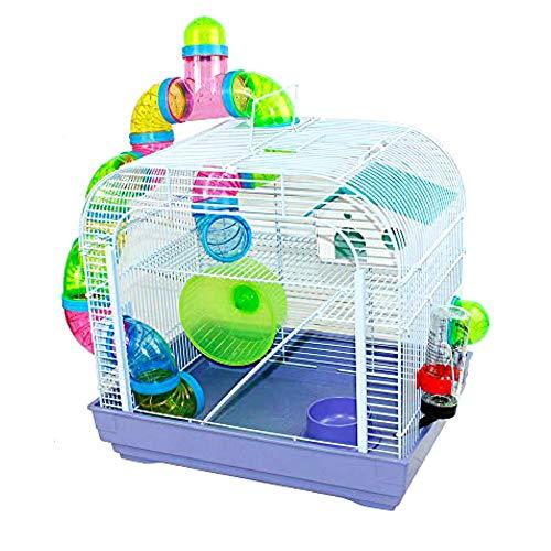 DZL® Jaula para Hamster(39.5X29.5X38CM) Color Azul/Purpura/Rojo se Entrega al Azar,Aviso...