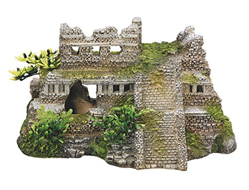 Nobby Aqua Adornos 28190Acuario Decoración Maya ruinas con Plantas 217x 147x 117mm