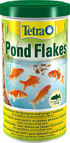 Tetra Pond Flakes 1 L - Comida para peces en escamas para todos los peces pequeños y jóvenes en...
