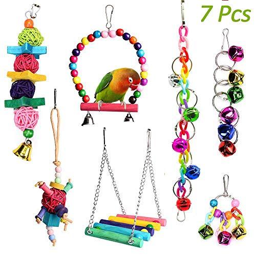 Juguetes para Pajaros, Juguete de ave Colorida para Masticar Pájaros Columpios de Juguete Juguetes,...