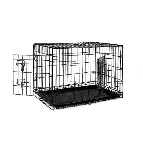 dibea Jaula transporte plegable para perros caja de transporte (L) 76x49x56 cm