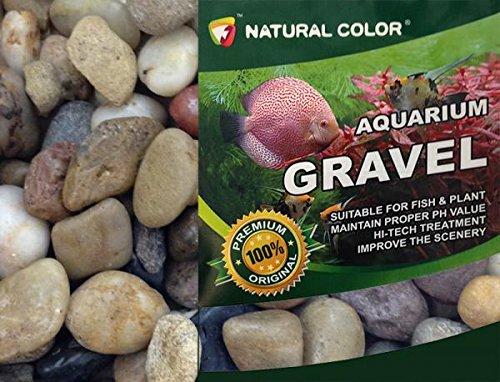 Piedras de Acuario de Color Natural, Grava, 1-2 cm, 5 kg