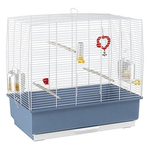 Ferplast Jaula para pájaros, con Todos los complementos, para periquitos