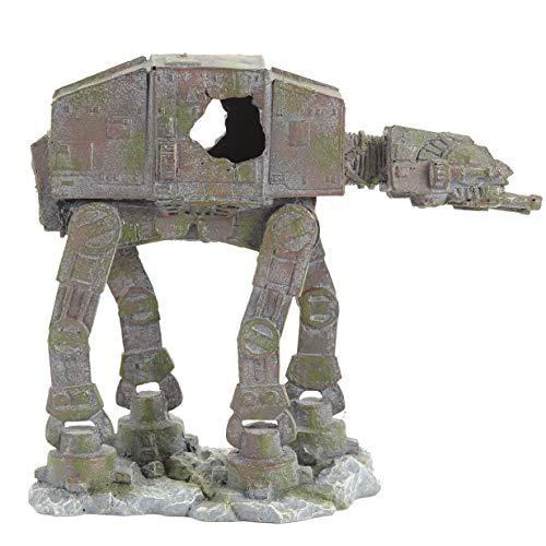Pet Ting Star Wars AT-AT Fighter Adorno para Acuario y decoración de viveros