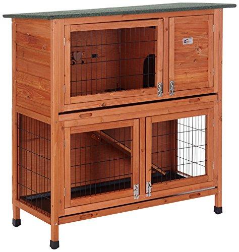 BUNNY BUSINESS - Jaula de 2 Niveles para Conejos y cobayas
