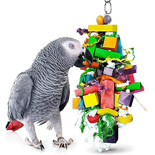 SunGrow Juguete masticable para pájaros, Bienestar físico y psicológico de Tus Loros, Mantiene...